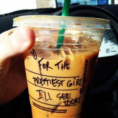 I want someone to do this for me tbh. Starbucks people take notes. lol
