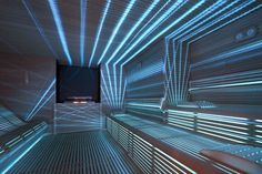 Love the lighting in this spa sauna. Professional Sauna by Starpool Sauna Design, Home Gym Design, House Design, Sauna Steam Room, Sauna Room, Saunas, Sauna Lights, Outdoor Sauna, Finnish Sauna
