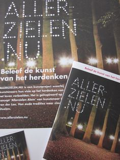 Works made by a graphic designer for 'Allerzielen' a project of Schatten van Brabant.