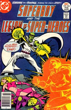 Superboy #224, february 1977, cover by Mike Grell.