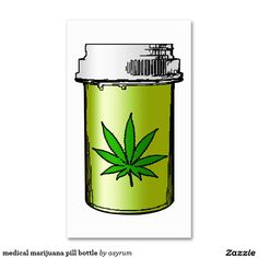 medical marijuana pill bottle Double-Sided standard business cards (Pack of 100)