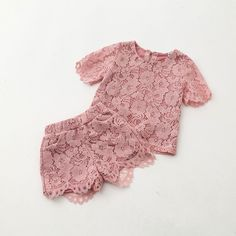 A two-piece short set that is too utterly cute for the dolly and just as amazing for the mommies! Check out the matching mommy set under the Mommy & Me tab.