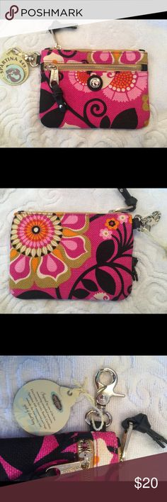 NWT Spartina clutch This NWT Spartina bag can be used a a wallet or small clutch. Also for hands free the convenient clip. Spartina  Bags