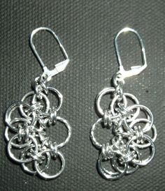 Hand Made Chain Maille Earrings by SilverScaleChainmail on Etsy