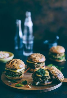 Chickpea and Quinoa Burgers with Halloumi