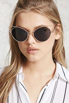 Cat Eye Cutout Sunglasses