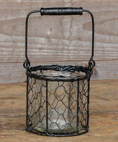 Another great find on #zulily! Small Graham Black Lantern Basket #zulilyfinds