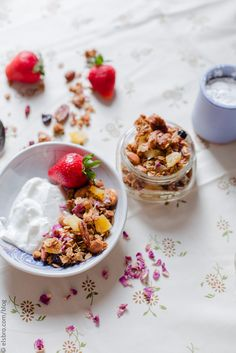 Rose Petal Granola with Dried Fruit by Elsa Brobbey