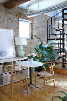$300 marble bistro dining table #smallspace