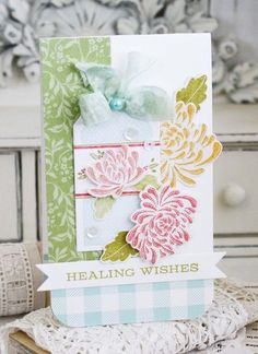 Healing Wishes Card by Melissa Phillips for Papertrey Ink (September 2015)