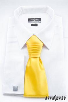 Žlutá inspirace nejen na svatbu / Yellow (wedding) inspiration  Žlutá pánská regata / Yellow men's tie