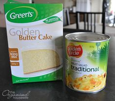 While cleaning out the pantry I stumbled across these two ingredients, that made up this super quick and easy cake.
