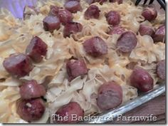 sausage applesauce bake - The Backyard Farmwife