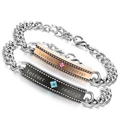 Couple, Forever, Wallet, Personalized Items, Chain, Amazon, Bracelets, Black Colors, Stainless Steel