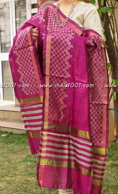 The best dupattas from across the country, incorporating the best of crafts and printing techniques Dupion Silk, Silk Dupatta, Punjabi Suits, Indian Dresses, Indian Wear, Kurti, Bollywood, Saree, Fashion Outfits