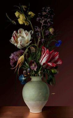 (Dutch) Floral still life, 2014 by Bas Meeuws ). Art Floral, Dutch Still Life, Still Life Art, Arrangements Ikebana, Floral Arrangements, Floral Photography, Still Life Photography, Beautiful Flower Arrangements, Beautiful Flowers
