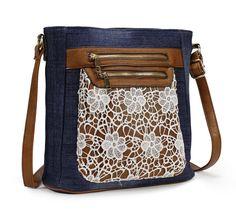 Scarleton Fashion Denim Crossbody Bag H174007 - Blue: Handbags: Amazon.com