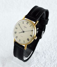 Men's Deluxe Vintage Watch LUCH Gold-plated USSR, Rare Luxury Soviet Watch #Luch…