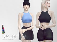 Lualdi Top by Pralinesims at TSR via Sims 4 Updates
