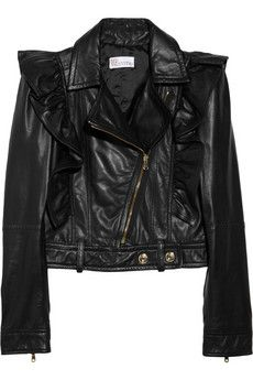 Love this!!! - Red Valentino Ruffled Leather Jacket!