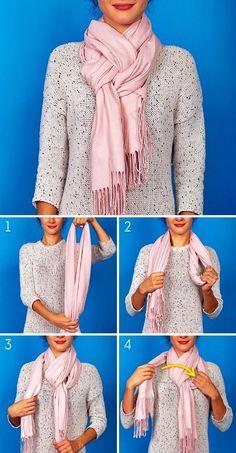 Womensyellow Raincoat With Hood – BuzzTMZ How To Wear A Blanket Scarf, Ways To Wear A Scarf, Diy Scarf, How To Wear Scarves, Tie A Scarf, Scarf Ideas, Scarf Wearing Styles, Scarf Styles, Wearing Scarves