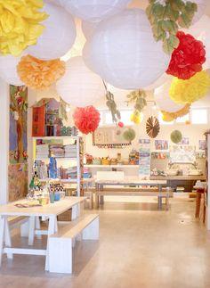 Children'S art studio by sadie kids art space, kids art rooms, kids art area Kids Art Space, Kids Room Art, Art For Kids, Crafts For Kids, Art Children, Kids Art Area, Kids Art Table, Children Playroom, Kids Bedroom