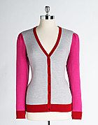 LORD & TAYLOR  Plus-Size Colorblock V-Neck Cardigan Sweater  more colors available    $80.00  $41.99 SALE V Neck Cardigan, Sweater Cardigan, Plus Size Sale, Lord & Taylor, Big And Beautiful, Color Blocking, Plus Size Fashion, Curvy, Fashion Outfits