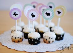 Free Easter Printable: Cupcake Toppers ~ Aly&Ash
