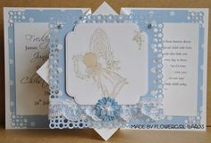 Flowergirl Cards: Christening Card