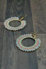 Resultado de imagen para brick stitch hoop earrings