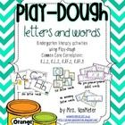 Play-dough Letters and Words is designed for Kindergarten students.  These can be used in literacy activities or stations.  Laminate, cut, and put ...