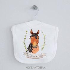 Horse baby bib  personalised bib dribble bib drool bib