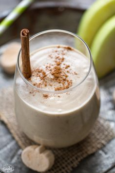 Pumpkin Spice Peanut Butter Chai Apple Smoothie makes a cozy breakfast or mid-morning snack perfect for fall