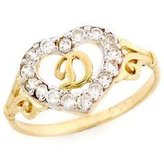 10k Gold Heart Shape Letter 'D' Initial CZ Ring Jewelry, via https://myamzn.heroku.com/go/B004GJ183Y/10k-Gold-Heart-Shape-Letter-D-Initial-CZ-Ring-Jewelry