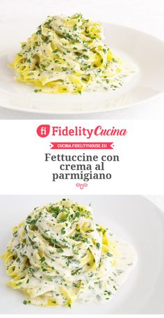 Fettuccine con crema al parmigiano Veggie Recipes, Wine Recipes, Pasta Recipes, Healthy Recipes, Cold Pasta, Creative Food, Food Inspiration, Italian Recipes, Love Food