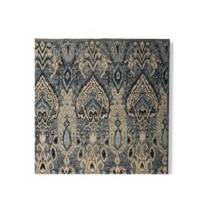 Williams-Sonoma Hand Knotted Wool & Silk Ikat Rug Swatch ($150) ❤ liked on Polyvore featuring home, rugs, square rugs, patterned rugs, square wool rug, hand knotted wool rugs and wool area rugs