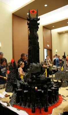 The Eye of Sauron/Barad-dûr in Lego. Other cool lego stuff if you follow the link!