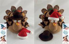 Ravelry: 089 Holidurkey Turkey Stuffed Decoration pattern by Desert Diamond Crochet