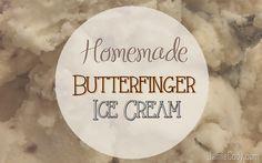 Homemade Butterfinger Ice Cream at www.jamiecody.com │ @jamiecody
