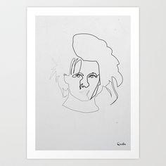 One line Edward Scissorhands Art Print by quibe - $18.72 Line Illustration, Illustrations, Single Line Tattoo, Edward Scissorhands, Line Tattoos, Tattoo Ideas, Art Prints, Artwork, Yarns
