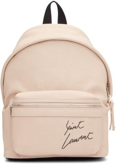 Saint Laurent - Pink Mini Leather City Backpack #women #bags #bag #beige #product