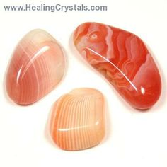 Tumbled Peach Agate - Tumbled Stones- Botswana Agate - Healing Crystals