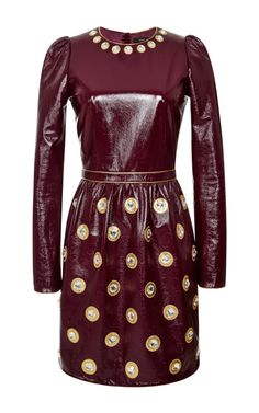 Plum Crinkle Patent Leather Dress by Marc Jacobs