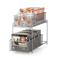 This .ORG 2-Tier Mesh Double Sliding Cabinet Basket provides ...