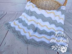 Grey, yellow and white crochet baby blanket. This is a very special handmade crochet baby blanket. This baby afghan will make a wonderful baby shower gift. This blanket would make a lovely addition to your baby nursery decor. Perfect also, for travel, strollers, prams, cribs, tummy time and photo props.