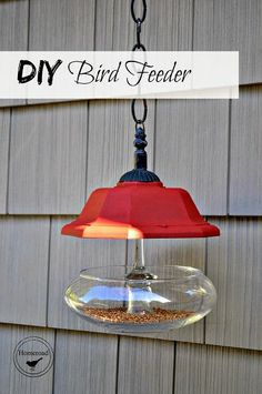 Using pieces I found in my junk collection and a little E6000 glue, I created a bird feeder that any bird would be proud to stop at for a bite to eat!