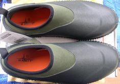 HABIT RUBBER SHOE UNISEX SHOE SIZE-9 SLIP ON FOR EASY WARE 2 TONE GREY VERY COMFORTABLE