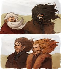 This is cute. I don't really get it... but it's cute! Funny... these were my four favorite Dwarves :D