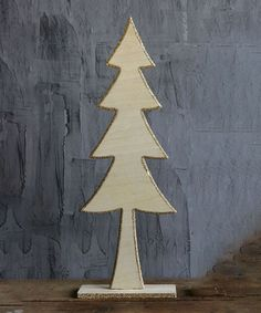 Loving this 27.5'' Gold Wood Tree on #zulily! #zulilyfinds