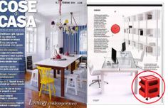 Italian famouse #home magazine Cose di Casa has presentend BOBY Trolley #design by Joe Colombo in 1970 in its February 2014 issue. Check it out!